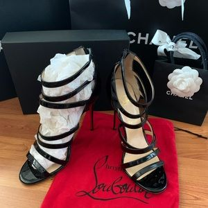 Christian Louboutin Patent Leather Caged Heel 40.5